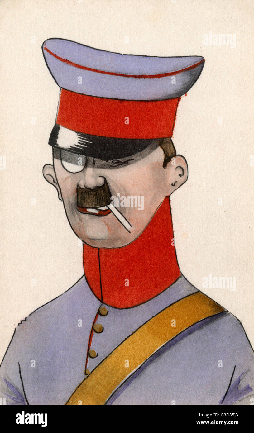 A smart, yet rather odd-looking German Military Officer, wearing a monacle and smoking a cigarette.     Date: 1913 - Stock Image