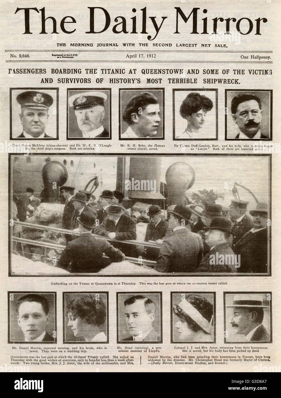 Titanic Opfer