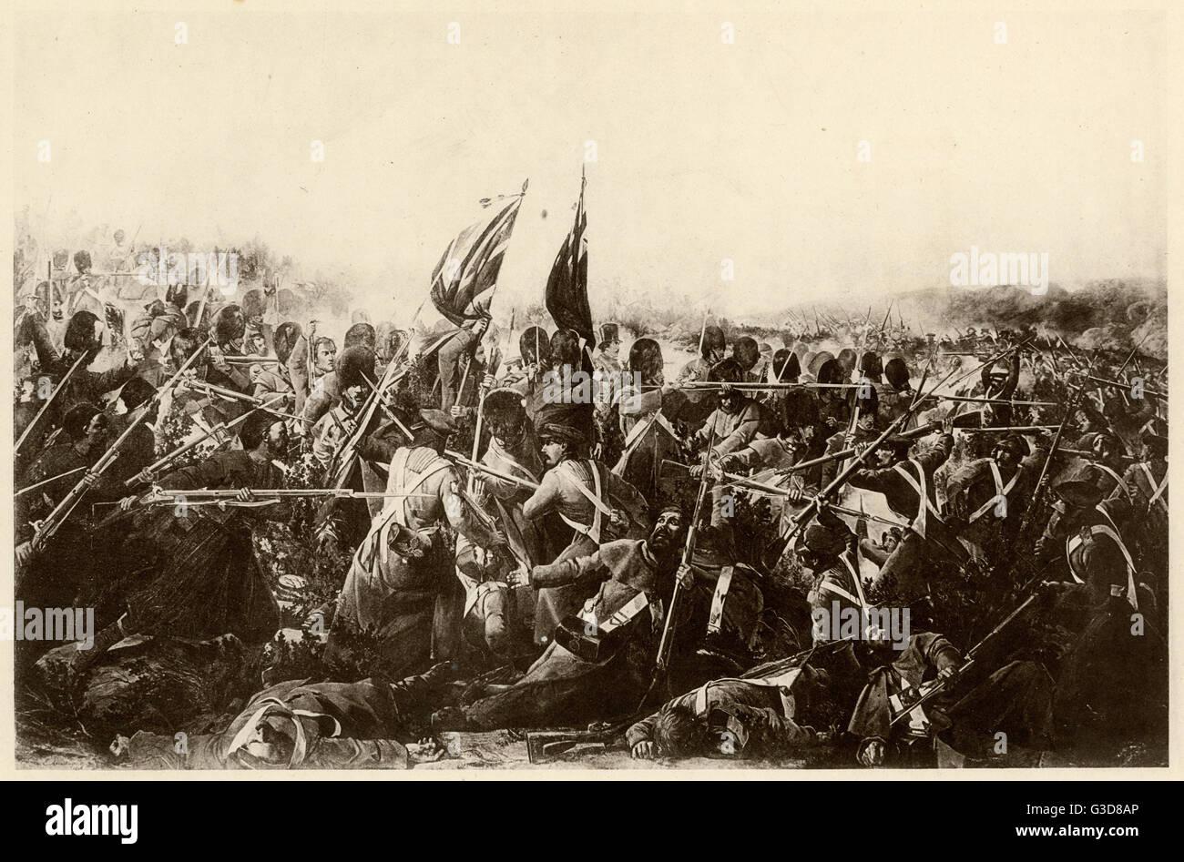 Battle of Inkerman during the Crimean War.     Date: 5th November 1854 - Stock Image