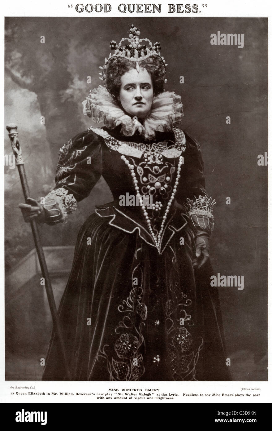 Winifred Emery (1861  1924),  English actress and actor-manager of the late 19th and early 20th centuries. Wearing - Stock Image