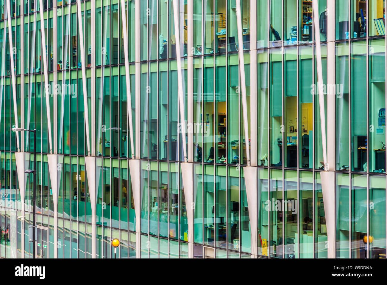 London, UK - June 03, 2017 - People working in an modern office building - Stock Image