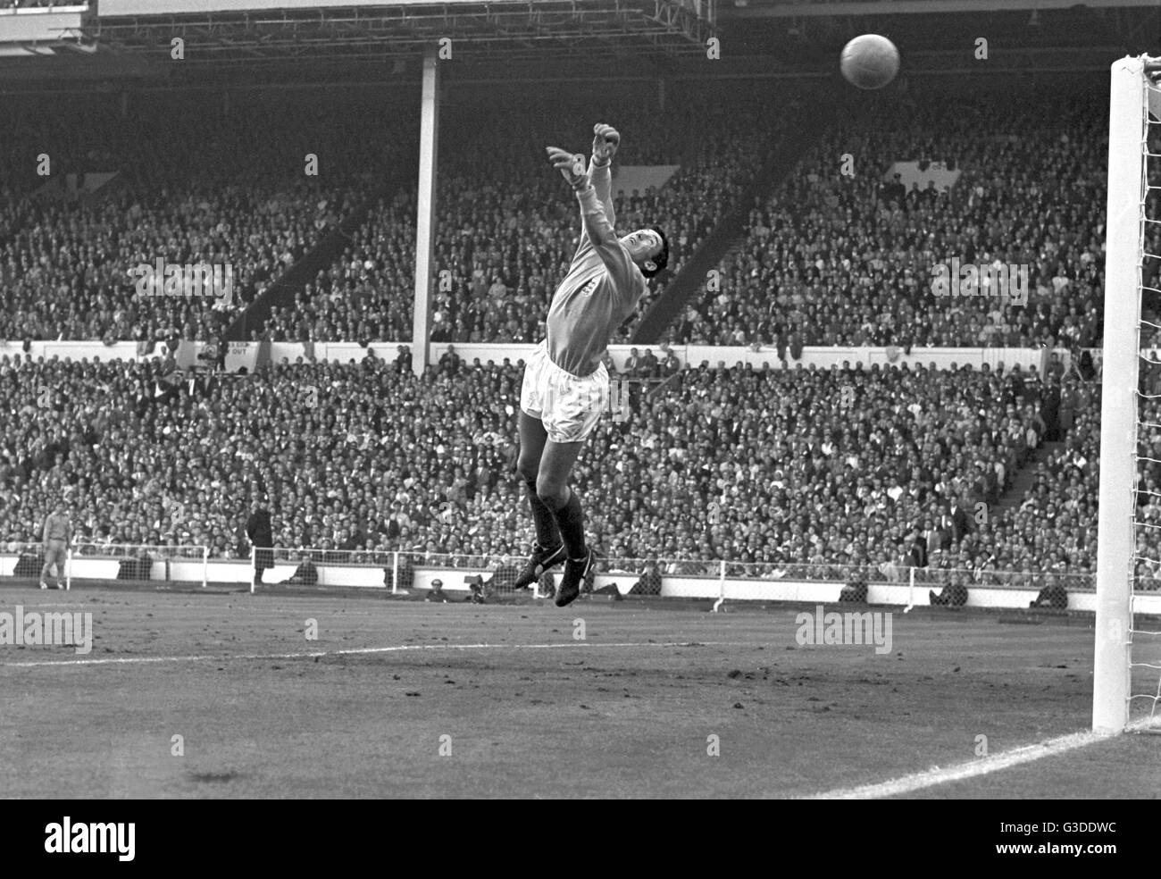 Soccer World Cup 1966 - Final - England v West Germany 4-2 a.e.t. - English goalkeeper Gordon Banks in action. | - Stock Image