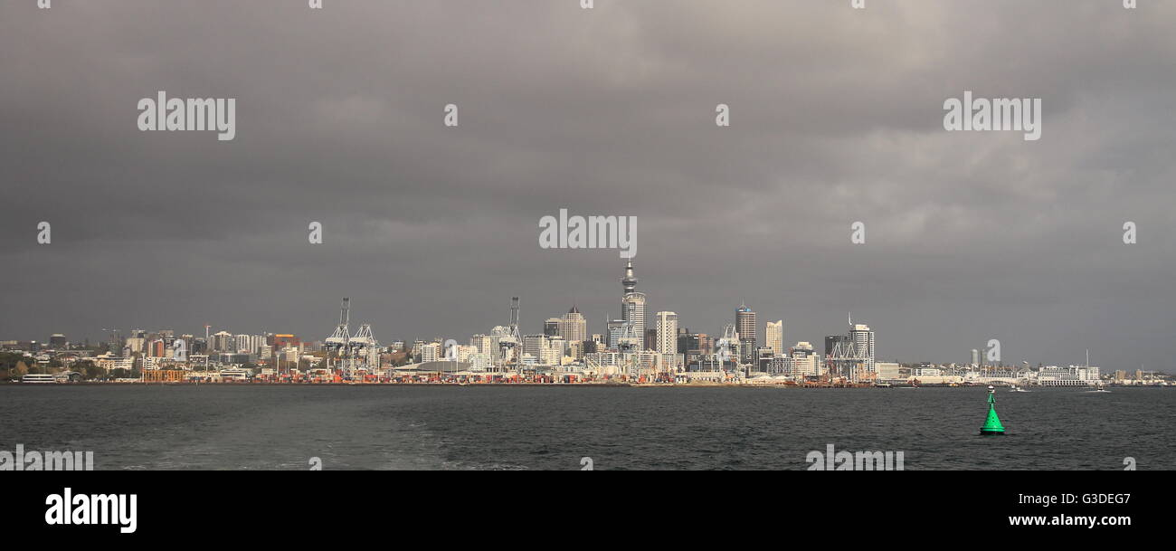 Clouds over Auckland, New Zealand - Stock Image