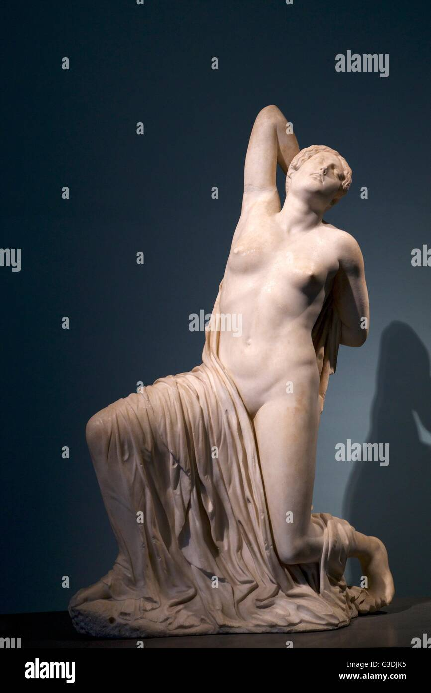 Dying Niobid, Roman copy of greek sculpture, 2nd century AD, Palazzo Massimo, National Museum of Rome, Italy - Stock Image