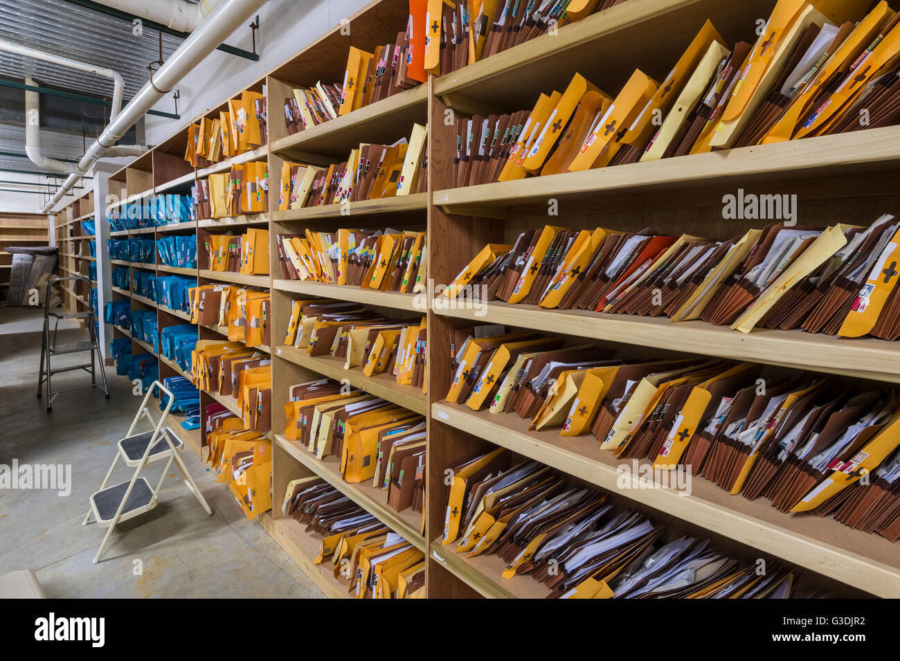 Medical Records Patient Files - Stock Image