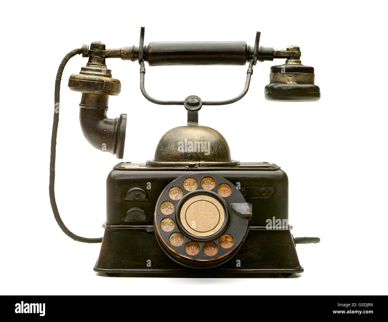 Old Vintage Antique Telephone - Stock Image