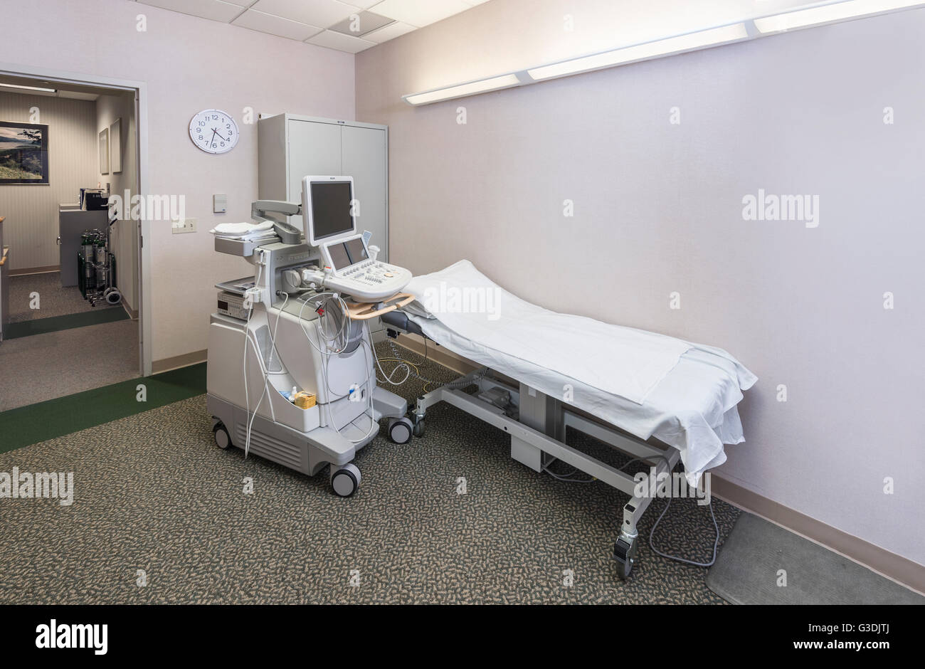 Ultrasound Machine In Doctor's Office - Stock Image