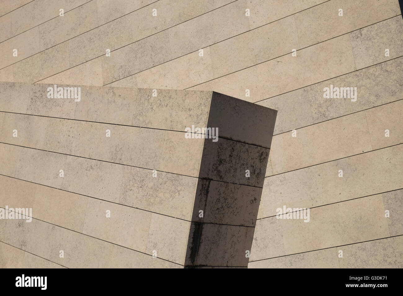 Close up architectural detail of modern building - Stock Image