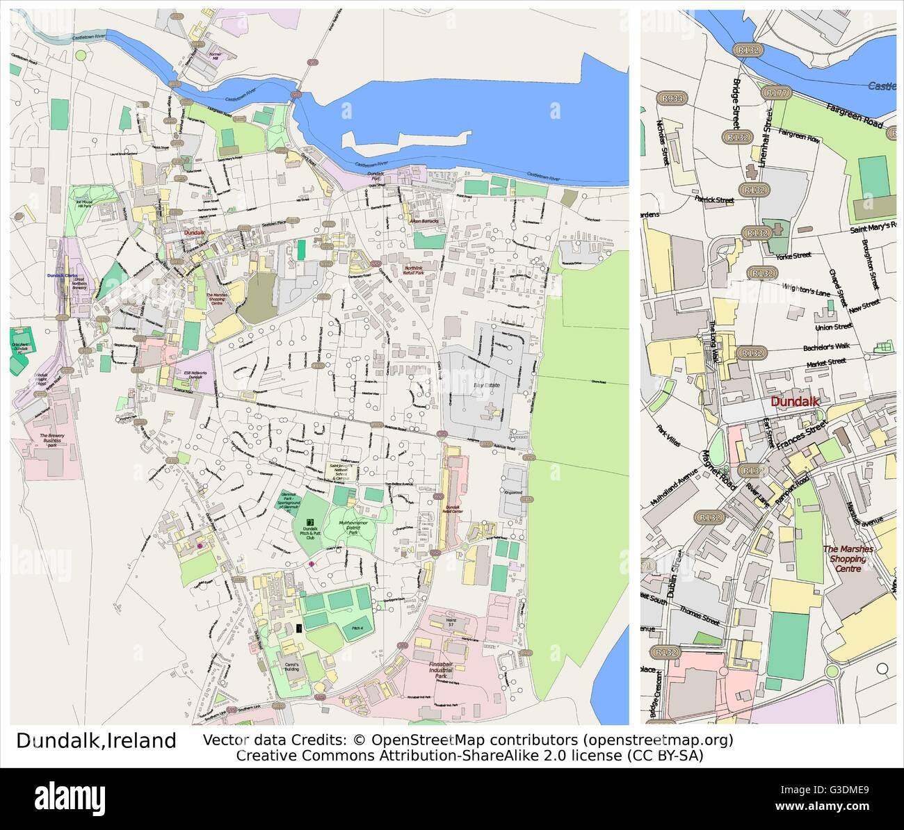 Dundalk Map Of Ireland.Dundalk Ireland City Map Stock Vector Art Illustration Vector