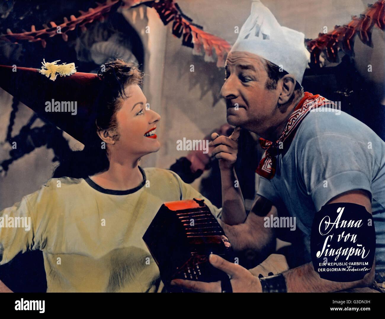 Laughing Anne, aka: Anna von Singapur, Großbritannien 1954, Regie: Herbert Wilcox, Darsteller: Margaret Lockwood, - Stock Image