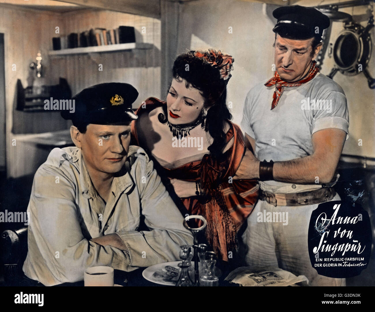 Laughing Anne, aka: Anna von Singapur, Großbritannien 1954, Regie: Herbert Wilcox, Darsteller: (v. l.) Wendell - Stock Image