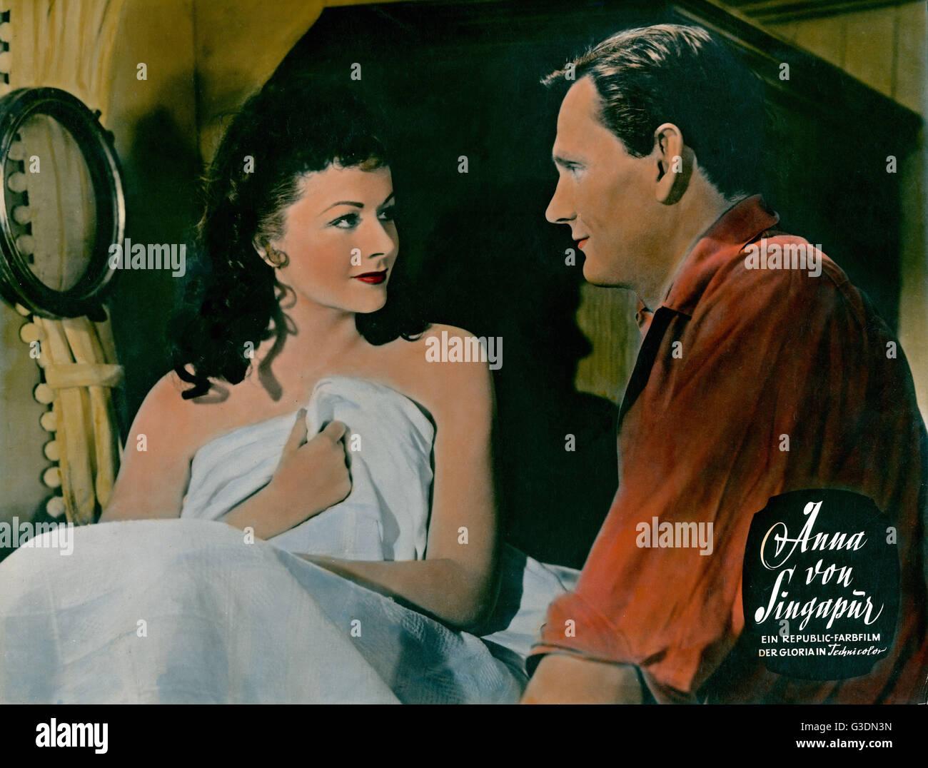 Laughing Anne, aka: Anna von Singapur, Großbritannien 1954, Regie: Herbert Wilcox, Darsteller: Forrest Tucker, - Stock Image