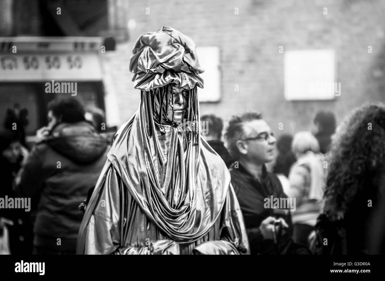 living human statue mime - Stock Image