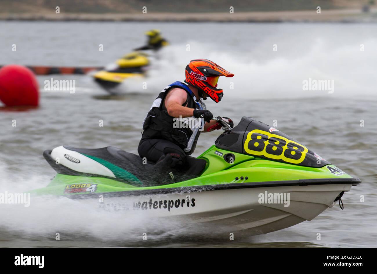 Steve Davis, Avos Waterspots at the British Summer Championships, Round 2 Crosby Lakeside Adventure Centre_Jet Ski - Stock Image