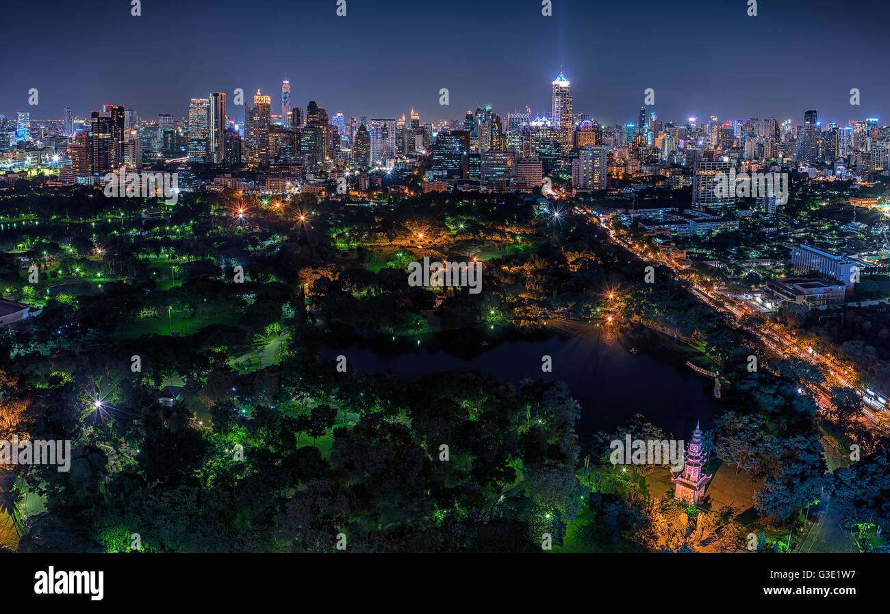 Bangkok twilight - Stock Image