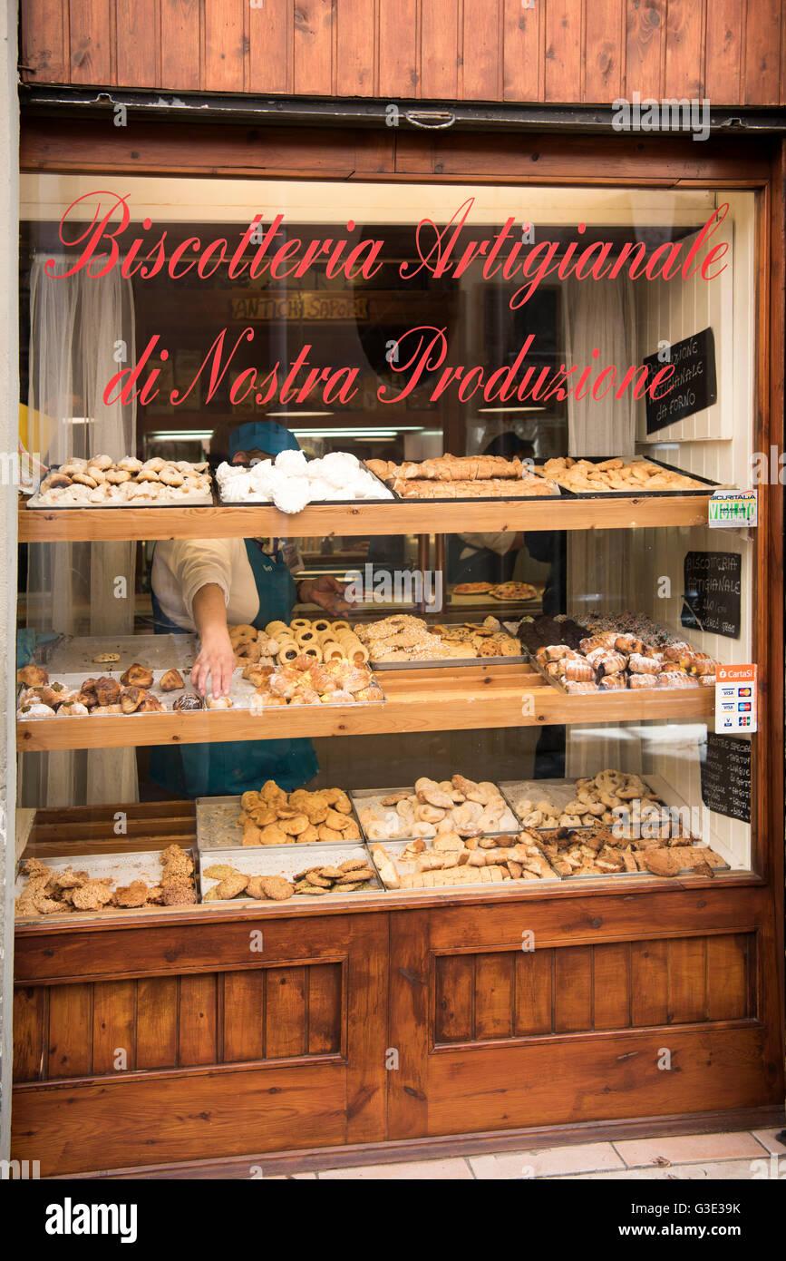 Italien, Rom, Trastevere, Biscotteria, italienische Bäckerei - Stock Image