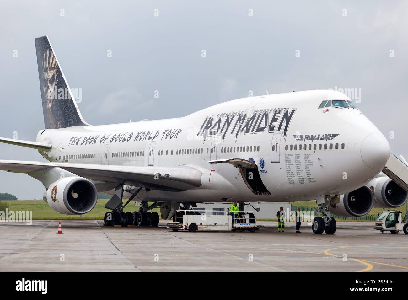 Opening Of The Ila Berlin Air Show Boeing 747 Iron Maiden Berlin