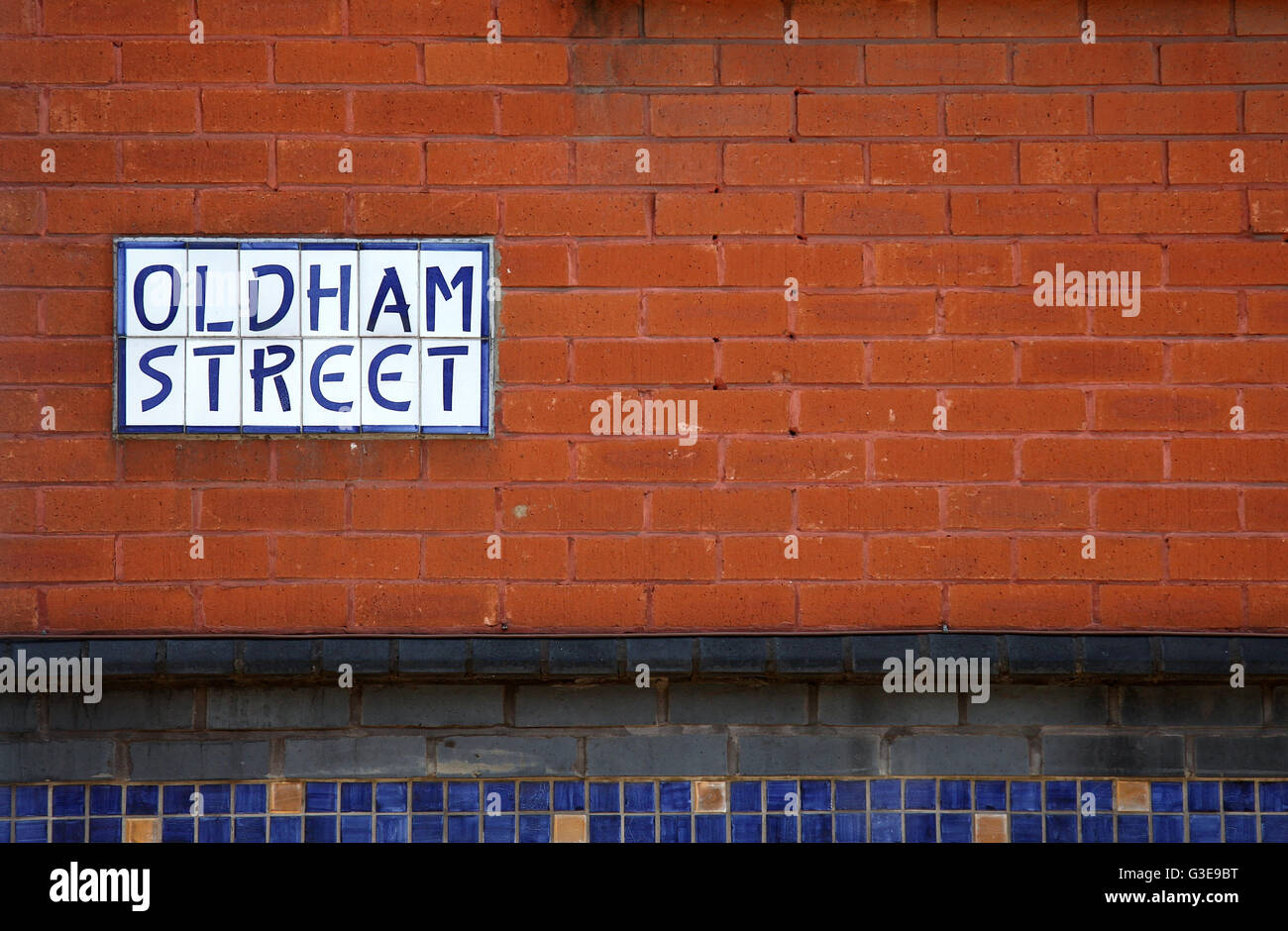 Oldham Street in the Northern Quarter of Manchester - Stock Image