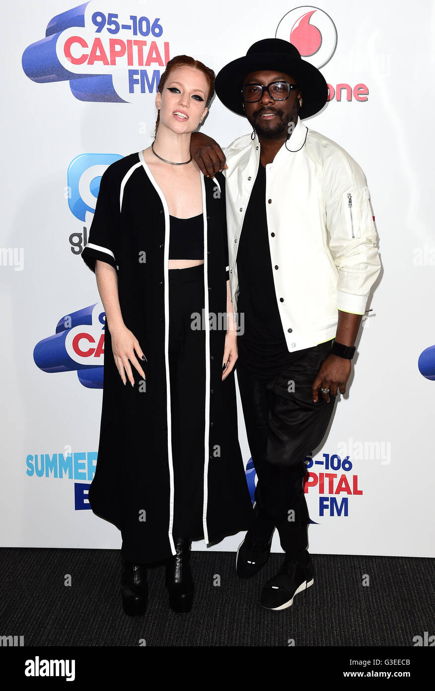 Jess Glynne and will.i.am attending Capital's Summertime Ball with Vodafone held at Wembley Stadium, London.  PRESS - Stock Image