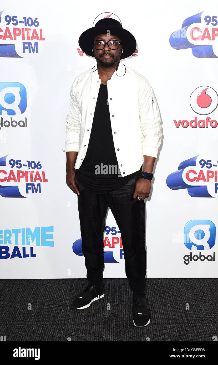 will.i.am attending Capital's Summertime Ball with Vodafone held at Wembley Stadium, London.  PRESS ASSOCIATION - Stock Image