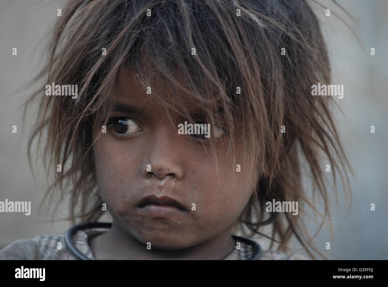 Street Child Kashmir India - Stock Image