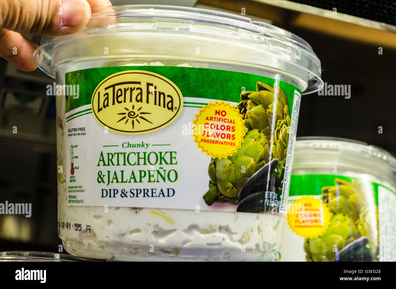 Artichoke and Jalapeno dip and spread at a Costco Store in