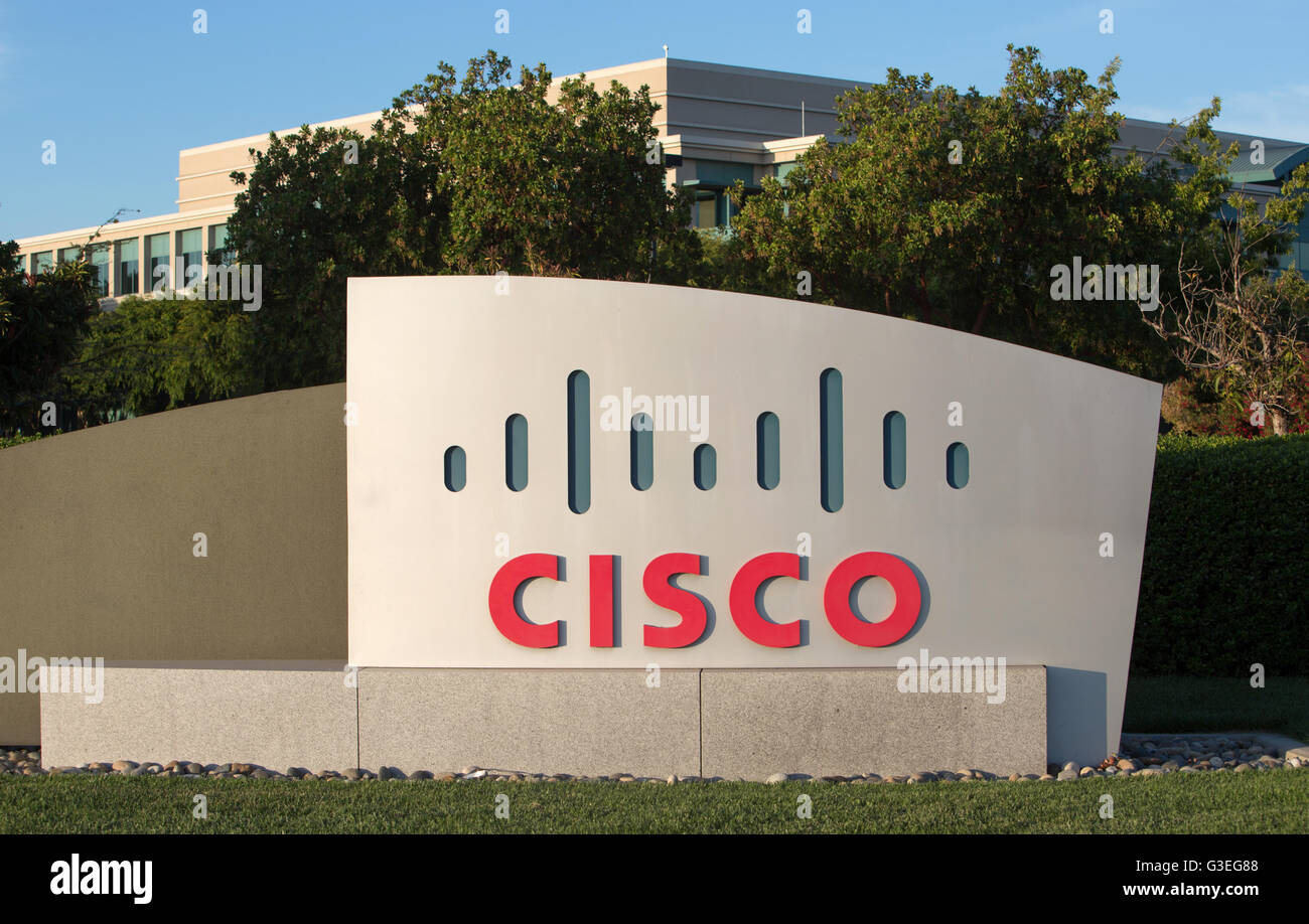 Cisco sign and offices in Milpitas, California. - Stock Image