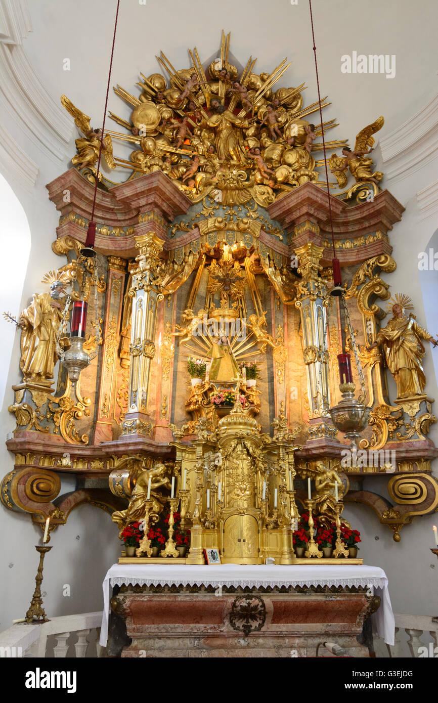 pilgrimage church Maria Schutz, Austria, Niederösterreich, Lower Austria, Wiener Alpen, Schottwien - Stock Image