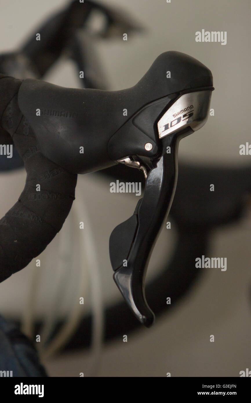Handle of the Bianchi 105 Alu Nirone - Stock Image