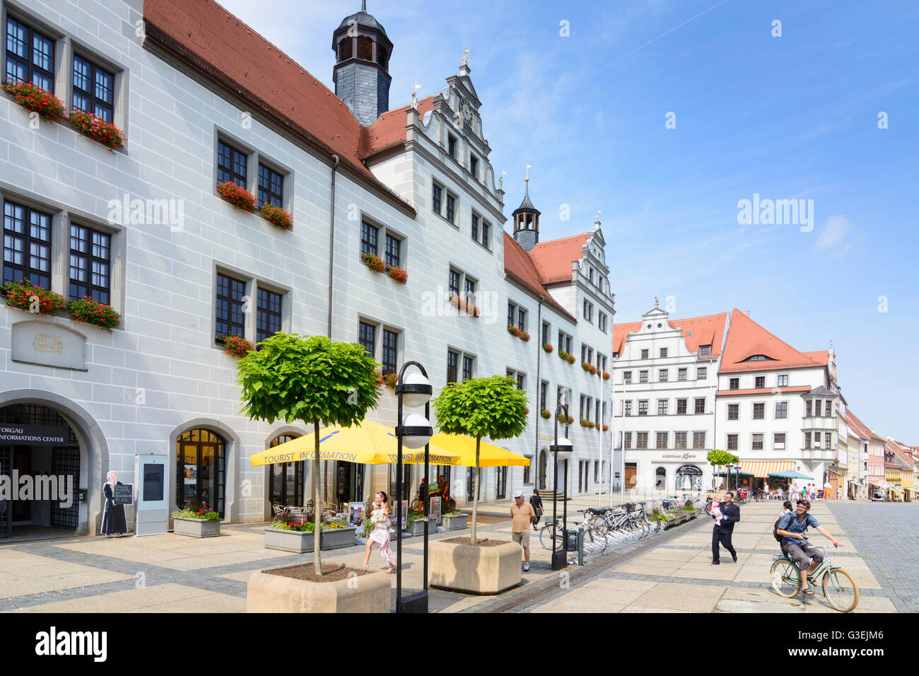 town hall, Germany, Sachsen, Saxony, , Torgau Stock Photo