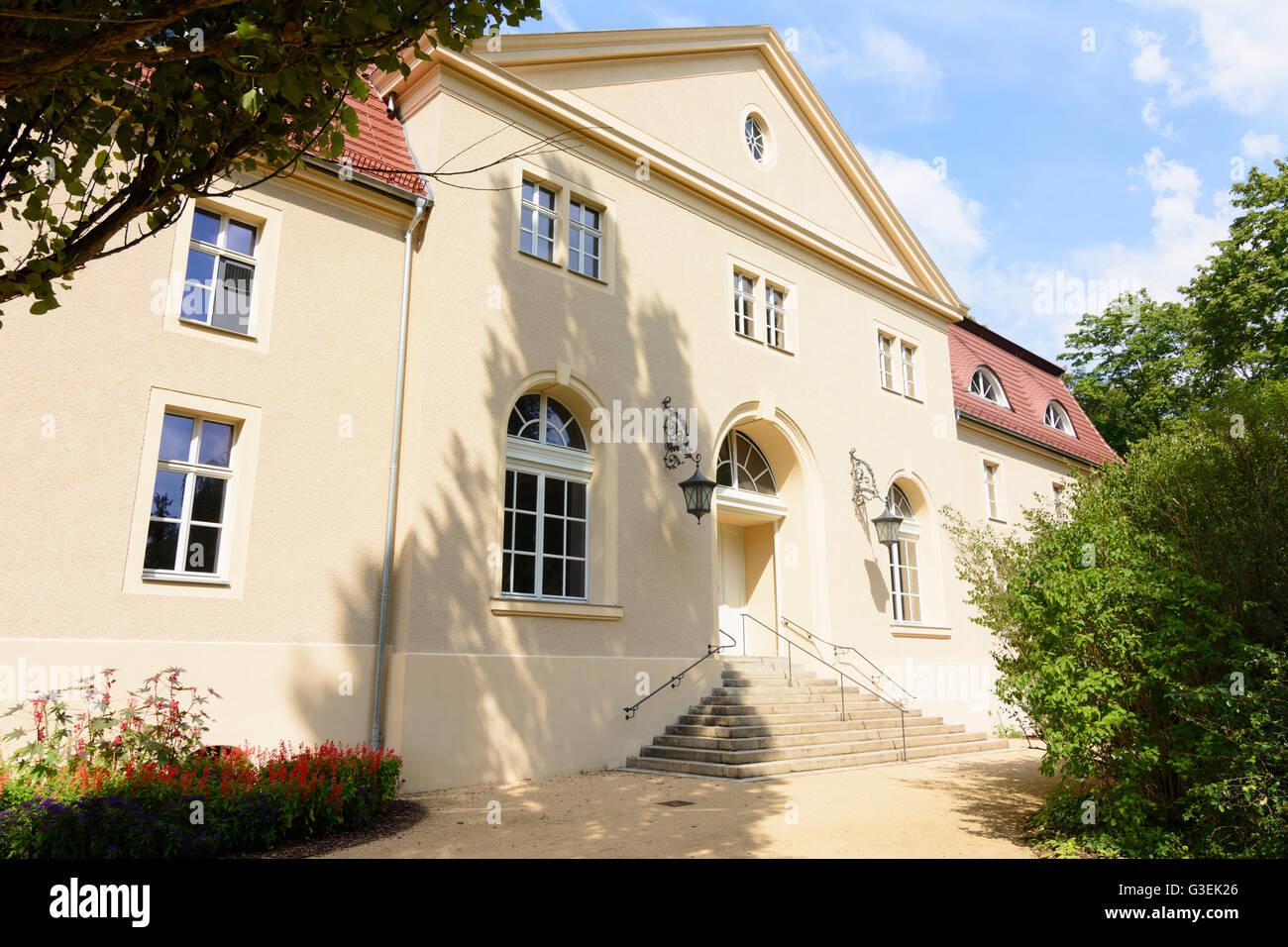 Muskau Park: Kavaliershaus (Gentleman's house), Germany, Sachsen, Saxony, , Bad Muskau Stock Photo