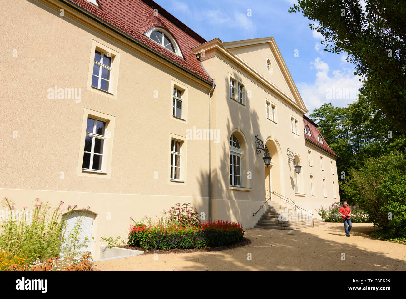 Muskau Park: Kavaliershaus (Gentleman's house), Germany, Sachsen, Saxony, , Bad Muskau Stock Photo