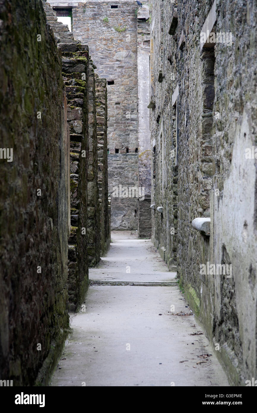 Ruins of the  British Army barracks Charles Fort Summer Cove, Kinsale harbour, County Cork, Ireland - Stock Image
