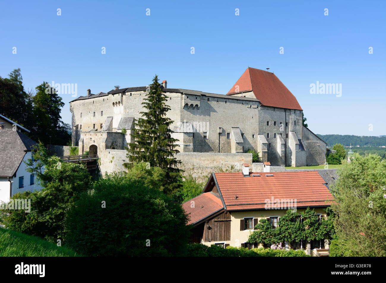 castle, Germany, Bayern, Bavaria, Oberbayern, Rupertiwinkel, Upper Bavaria, Tittmoning - Stock Image