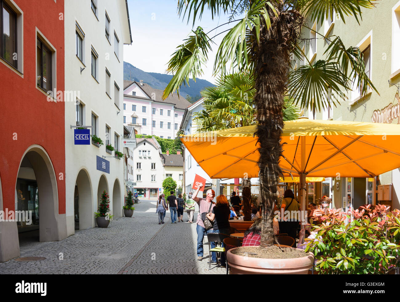 promo code many fashionable special sales alley Rathausgasse in old town, Austria, Vorarlberg ...