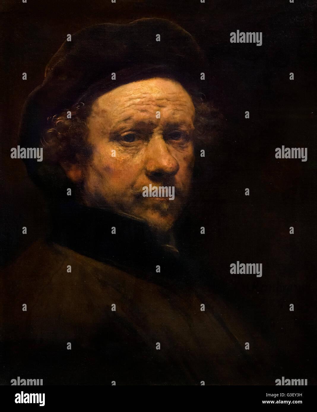 Rembrandt, Self-Portrait, Aged 51, oil on canvas, c.1657 - Stock Image