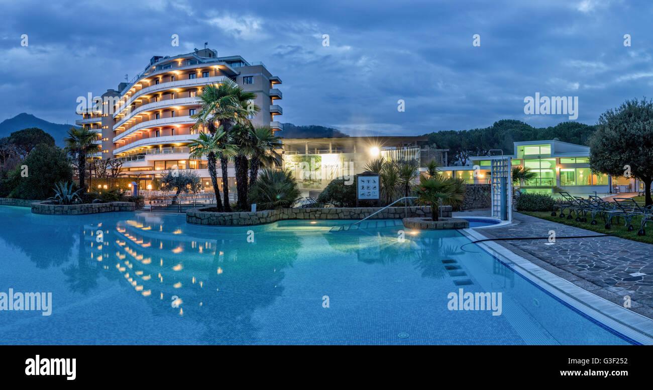 Hotel Radisson Blu Majestic, Italy, Veneto, Galzignano, Battaglia Therme, wellness, spa - Stock Image