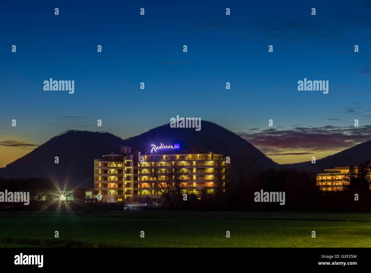 Hotel Radisson Blu Majestic, Italy, Veneto, Galzignano, Battaglia Therme, wellness, spa, sports, golf - Stock Image