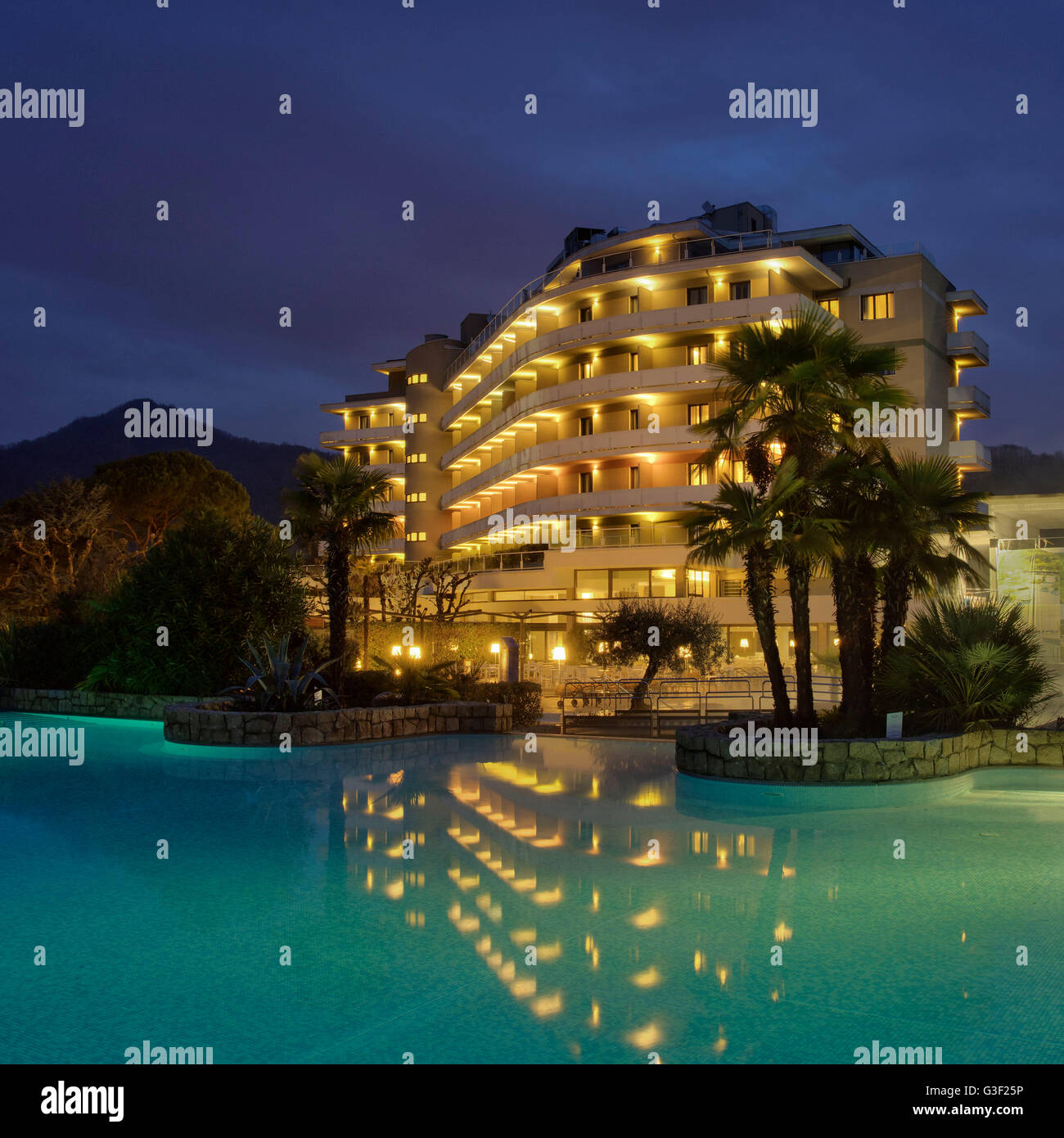 Hotel Radisson Blu Majestic, Italy, Veneto, Galzignano, Battaglia Therme, wellness, spa - Stock Image