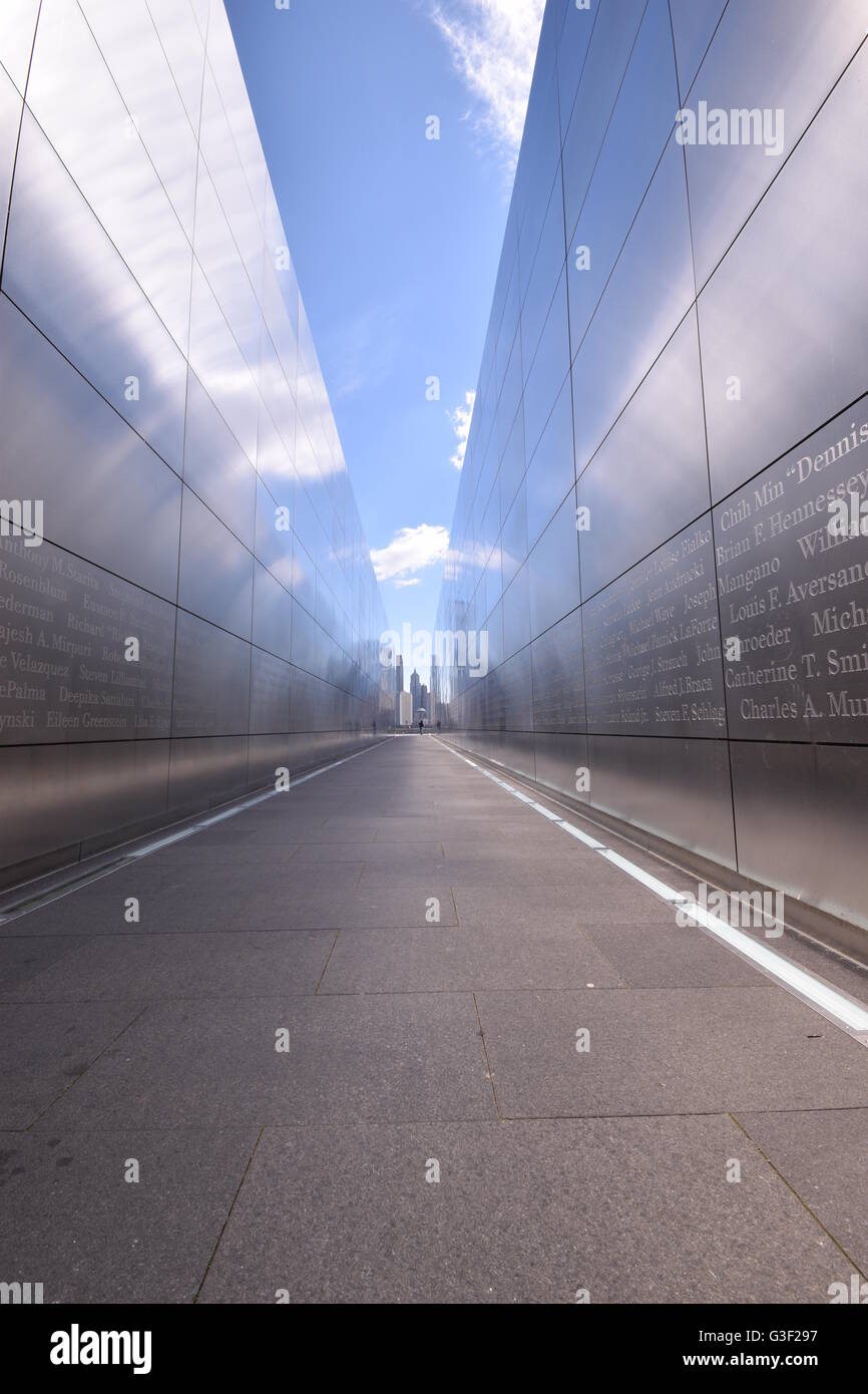 Empty Sky Memorial in Liberty State Park, New Jersey - Stock Image