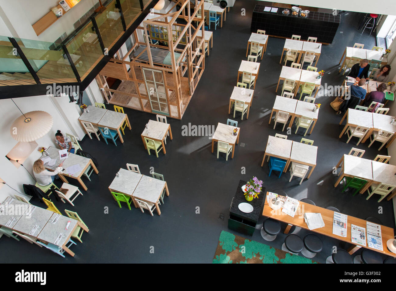 Residential houses on the Java-eiland Lloyd Hotel & Cultural Embassy, restaurant, Amsterdam, Holland, Netherlands - Stock Image