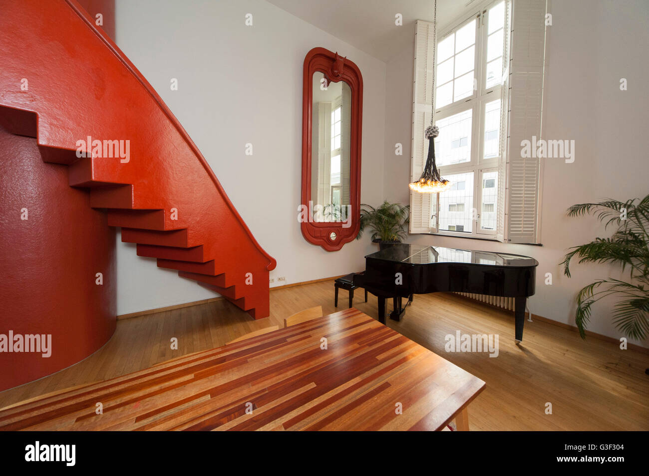 Residential houses on the Java-eiland Lloyd Hotel & Cultural Embassy, suite with piano, Amsterdam, Holland, - Stock Image