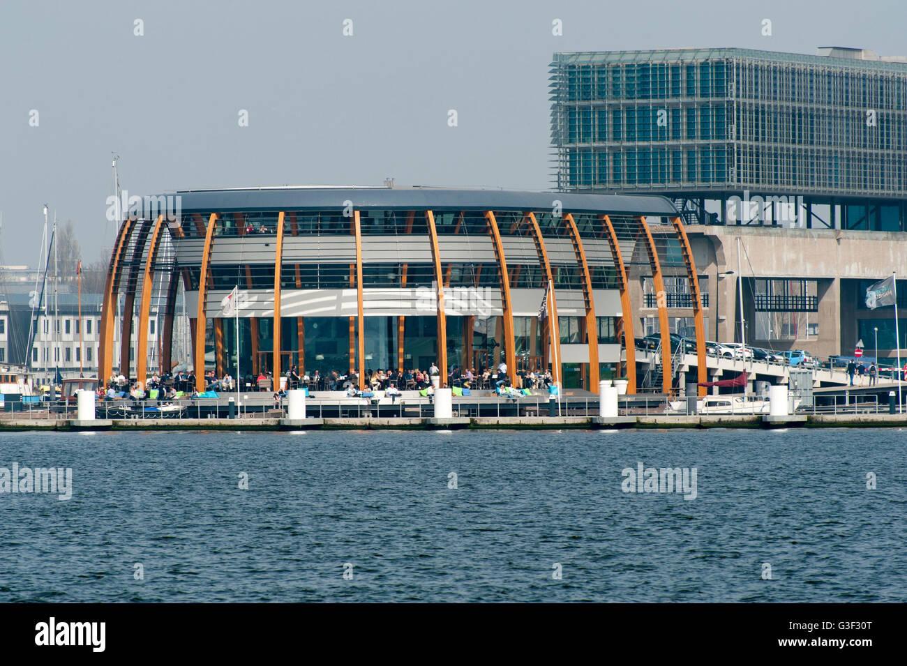 Ij, restaurant 'Loetje', Amsterdam-Noord (borough), Amsterdam, Holland, Netherlands - Stock Image