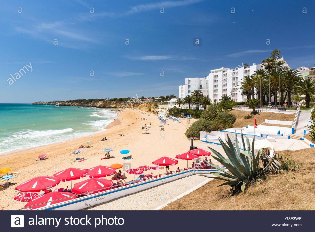 View on Praia de Armacao de Pera, Algarve, Portugal - Stock Image