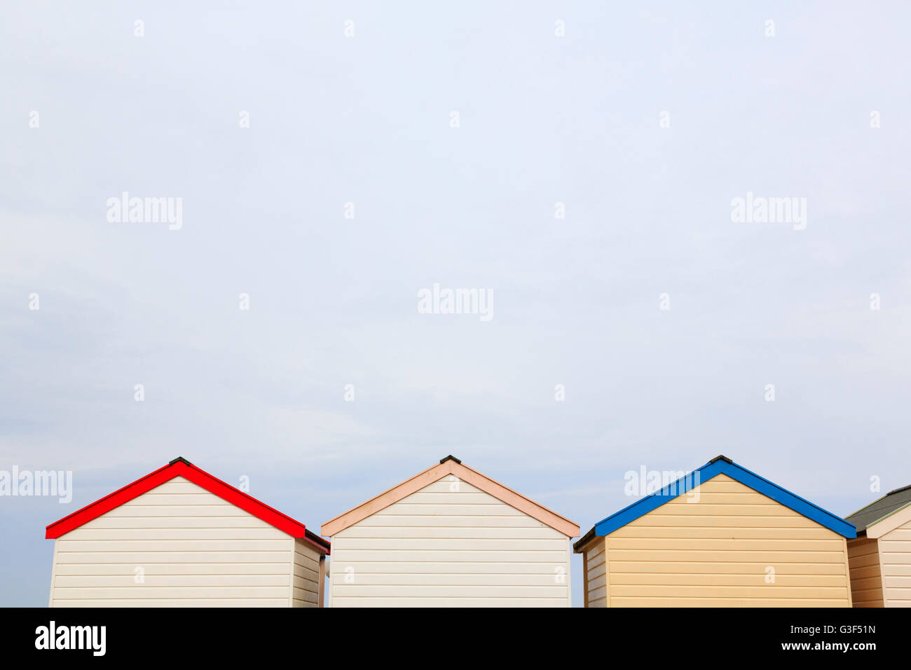 Beach huts, Southwold Norfolk, England Stock Photo