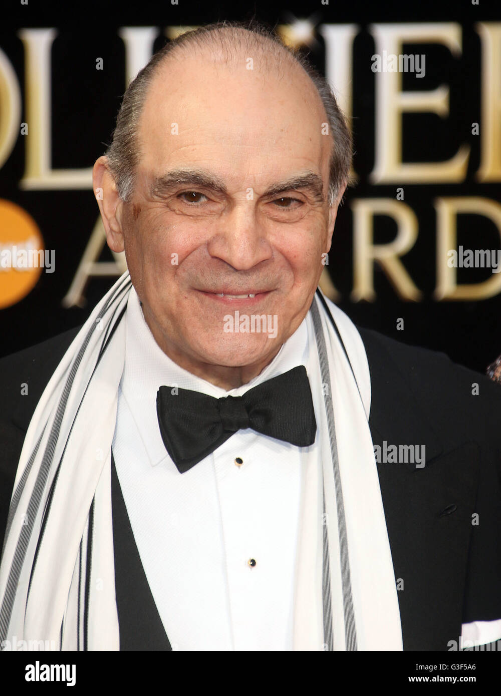 April 3, 2016 - David Suchet attending The Olivier Awards 2016 at Royal Opera House, Covent Garden in London, UK. - Stock Image