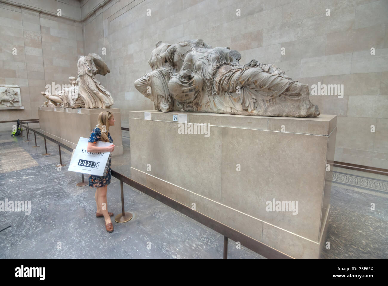 parthenon marbles,  Elgin Marble British Museum Stock Photo