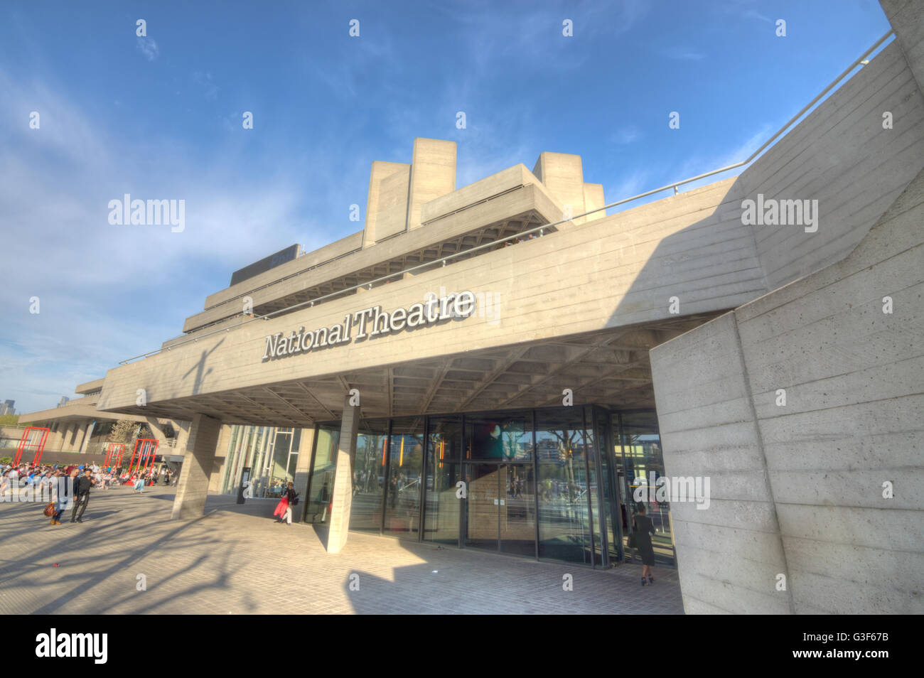 National Theatre, London.   Brutalist. Modernist architecture - Stock Image
