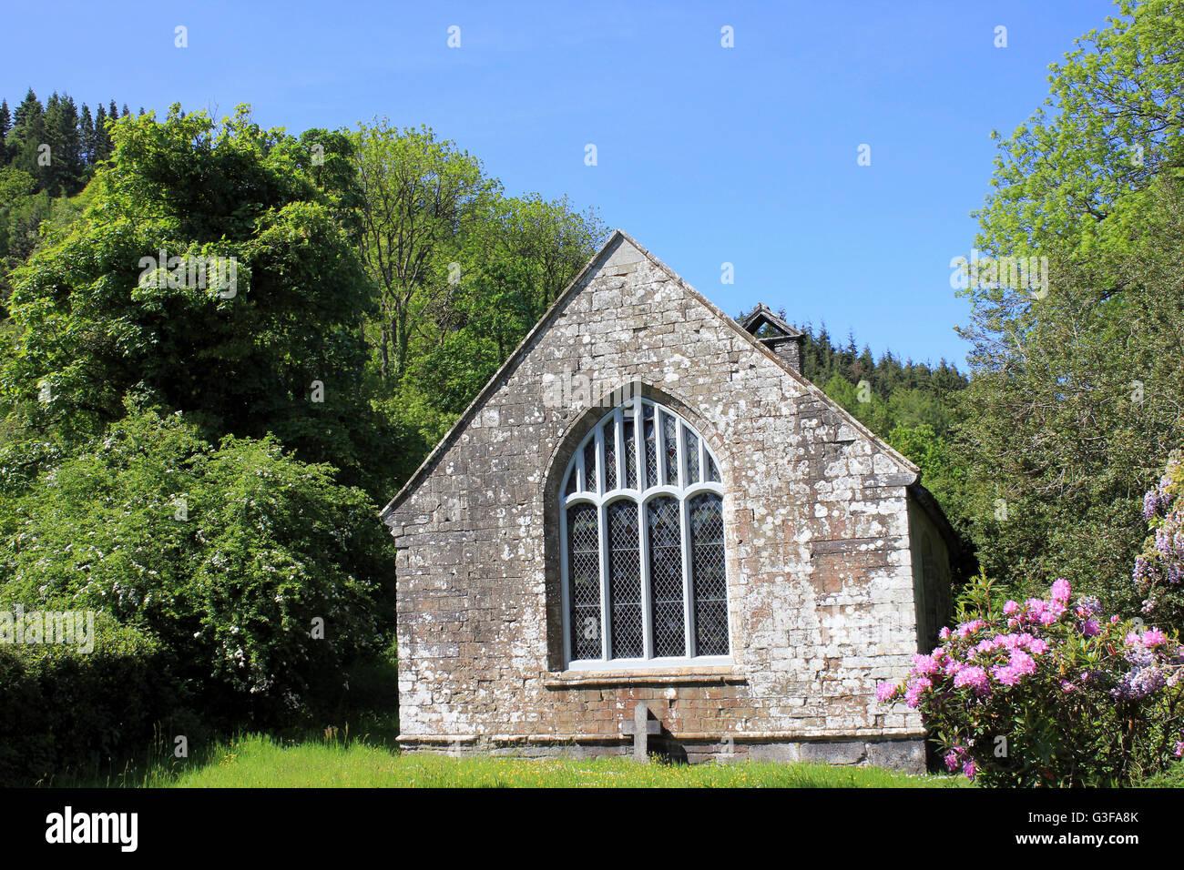 7th Century, Gwydir Uchaf Chapel, Gwydyr Forest Park, Snowdonia N.P., Wales - Stock Image