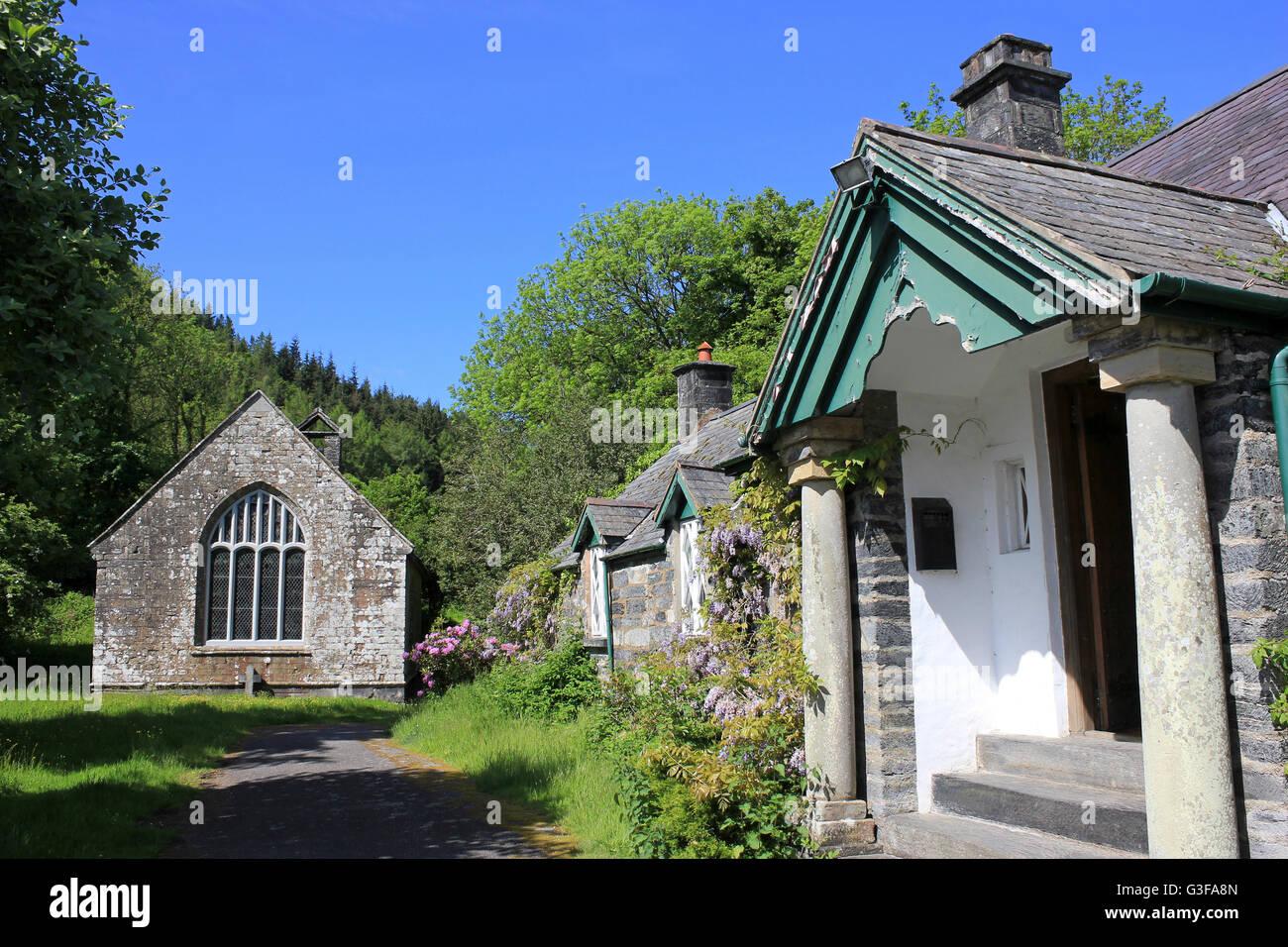 17th Century, Gwydir Uchaf Chapel, Gwydyr Forest Park, Snowdonia N.P., Wales - Stock Image